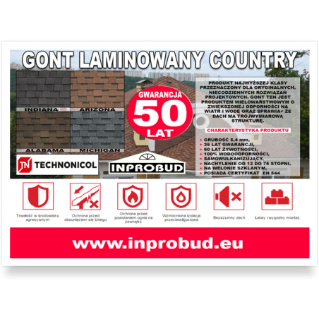 GONT TECHNONICOL - COUNTRY (2,6 m2)